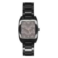 Abstraction Stainless Steel Barrel Watch