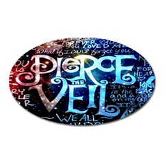 Pierce The Veil Quote Galaxy Nebula Oval Magnet