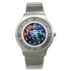 Pierce The Veil Quote Galaxy Nebula Stainless Steel Watch