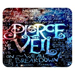 Pierce The Veil Quote Galaxy Nebula Double Sided Flano Blanket (Small)