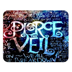 Pierce The Veil Quote Galaxy Nebula Double Sided Flano Blanket (large)
