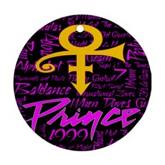 Prince Poster Ornament (round)