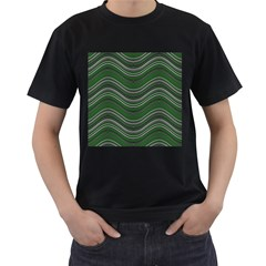 Abstraction Men s T-Shirt (Black) (Two Sided)