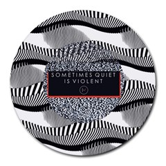 Sometimes Quiet Is Violent Twenty One Pilots The Meaning Of Blurryface Album Round Mousepads