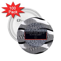 Sometimes Quiet Is Violent Twenty One Pilots The Meaning Of Blurryface Album 2 25  Buttons (100 Pack)