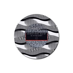 Sometimes Quiet Is Violent Twenty One Pilots The Meaning Of Blurryface Album Rubber Coaster (round)