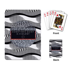 Sometimes Quiet Is Violent Twenty One Pilots The Meaning Of Blurryface Album Playing Card