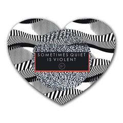 Sometimes Quiet Is Violent Twenty One Pilots The Meaning Of Blurryface Album Heart Mousepads