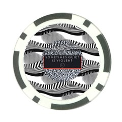 Sometimes Quiet Is Violent Twenty One Pilots The Meaning Of Blurryface Album Poker Chip Card Guard (10 pack)