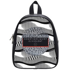 Sometimes Quiet Is Violent Twenty One Pilots The Meaning Of Blurryface Album School Bags (Small)