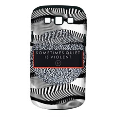 Sometimes Quiet Is Violent Twenty One Pilots The Meaning Of Blurryface Album Samsung Galaxy S Iii Classic Hardshell Case (pc+silicone)