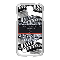 Sometimes Quiet Is Violent Twenty One Pilots The Meaning Of Blurryface Album Samsung GALAXY S4 I9500/ I9505 Case (White)