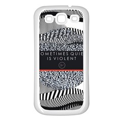 Sometimes Quiet Is Violent Twenty One Pilots The Meaning Of Blurryface Album Samsung Galaxy S3 Back Case (white)
