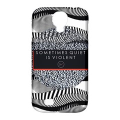Sometimes Quiet Is Violent Twenty One Pilots The Meaning Of Blurryface Album Samsung Galaxy S4 Classic Hardshell Case (PC+Silicone)