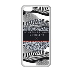 Sometimes Quiet Is Violent Twenty One Pilots The Meaning Of Blurryface Album Apple iPhone 5C Seamless Case (White)