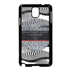 Sometimes Quiet Is Violent Twenty One Pilots The Meaning Of Blurryface Album Samsung Galaxy Note 3 Neo Hardshell Case (Black)