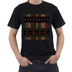 Tardis Doctor Who Ugly Holiday Men s T-Shirt (Black) (Two Sided)