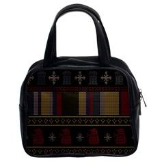 Tardis Doctor Who Ugly Holiday Classic Handbags (2 Sides)