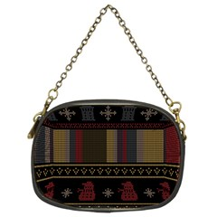 Tardis Doctor Who Ugly Holiday Chain Purses (Two Sides)