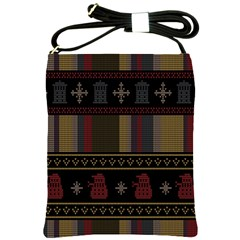 Tardis Doctor Who Ugly Holiday Shoulder Sling Bags