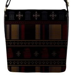 Tardis Doctor Who Ugly Holiday Flap Messenger Bag (s)