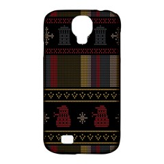 Tardis Doctor Who Ugly Holiday Samsung Galaxy S4 Classic Hardshell Case (PC+Silicone)