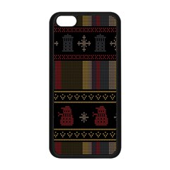 Tardis Doctor Who Ugly Holiday Apple Iphone 5c Seamless Case (black)