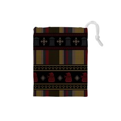 Tardis Doctor Who Ugly Holiday Drawstring Pouches (Small)