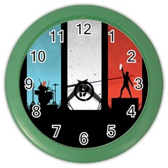 Twenty One 21 Pilots Color Wall Clocks