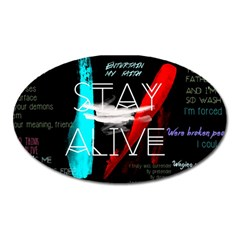 Twenty One Pilots Stay Alive Song Lyrics Quotes Oval Magnet