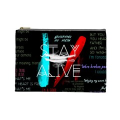 Twenty One Pilots Stay Alive Song Lyrics Quotes Cosmetic Bag (Large)