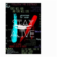 Twenty One Pilots Stay Alive Song Lyrics Quotes Small Garden Flag (two Sides)