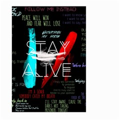Twenty One Pilots Stay Alive Song Lyrics Quotes Large Garden Flag (two Sides)