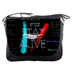 Twenty One Pilots Stay Alive Song Lyrics Quotes Messenger Bags
