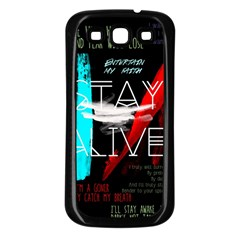 Twenty One Pilots Stay Alive Song Lyrics Quotes Samsung Galaxy S3 Back Case (Black)