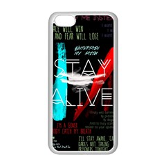 Twenty One Pilots Stay Alive Song Lyrics Quotes Apple iPhone 5C Seamless Case (White)