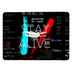 Twenty One Pilots Stay Alive Song Lyrics Quotes Samsung Galaxy Tab Pro 12.2  Flip Case