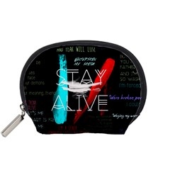 Twenty One Pilots Stay Alive Song Lyrics Quotes Accessory Pouches (Small)