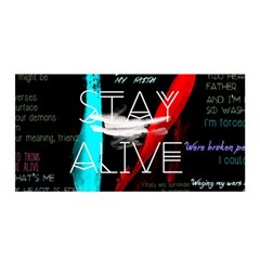 Twenty One Pilots Stay Alive Song Lyrics Quotes Satin Wrap