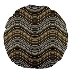 Abstraction Large 18  Premium Flano Round Cushions