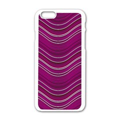 Abstraction Apple iPhone 6/6S White Enamel Case