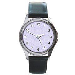 Abstraction Round Metal Watch