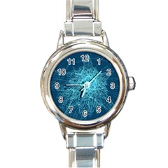 Shattered Glass Round Italian Charm Watch
