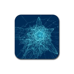 Shattered Glass Rubber Square Coaster (4 pack)