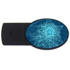Shattered Glass USB Flash Drive Oval (2 GB)