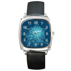 Shattered Glass Square Metal Watch