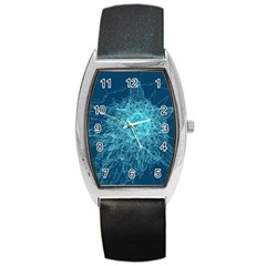 Shattered Glass Barrel Style Metal Watch