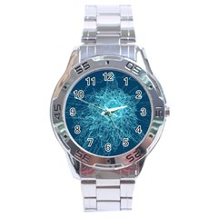 Shattered Glass Stainless Steel Analogue Watch