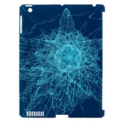 Shattered Glass Apple iPad 3/4 Hardshell Case (Compatible with Smart Cover)