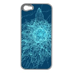 Shattered Glass Apple iPhone 5 Case (Silver)